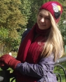 КОМПЛЕКТ FLEUR (шапка + шарф)